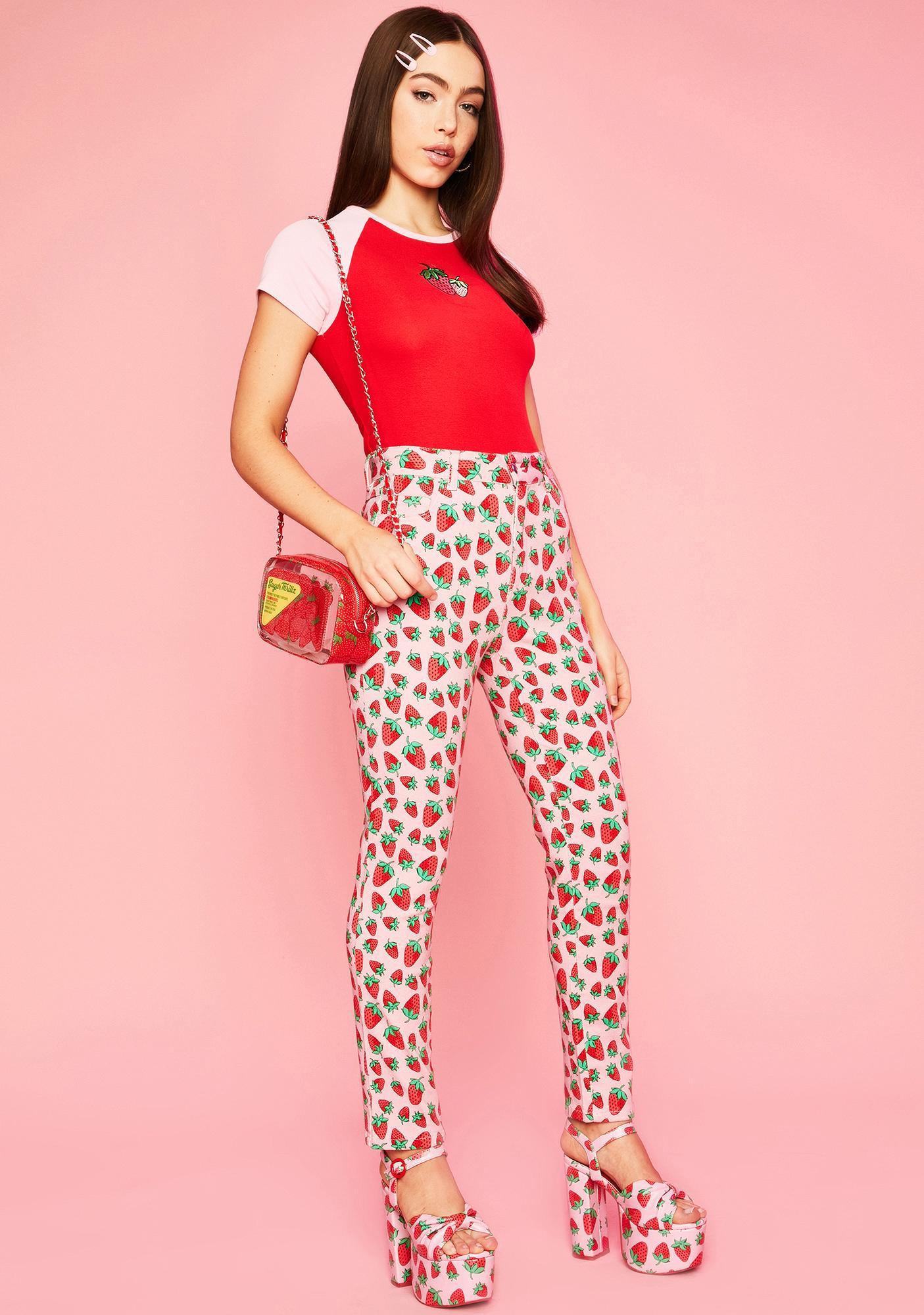 Sugar Thrillz Strawberry Fields Denim Jeans