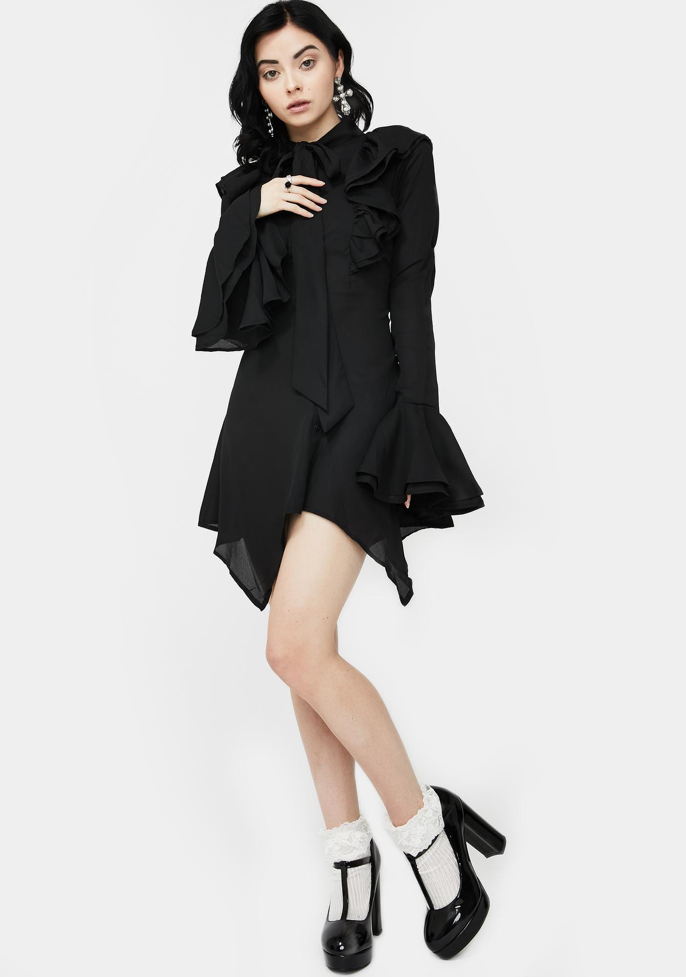 Killstar Runa Chiffon Dress Blouse