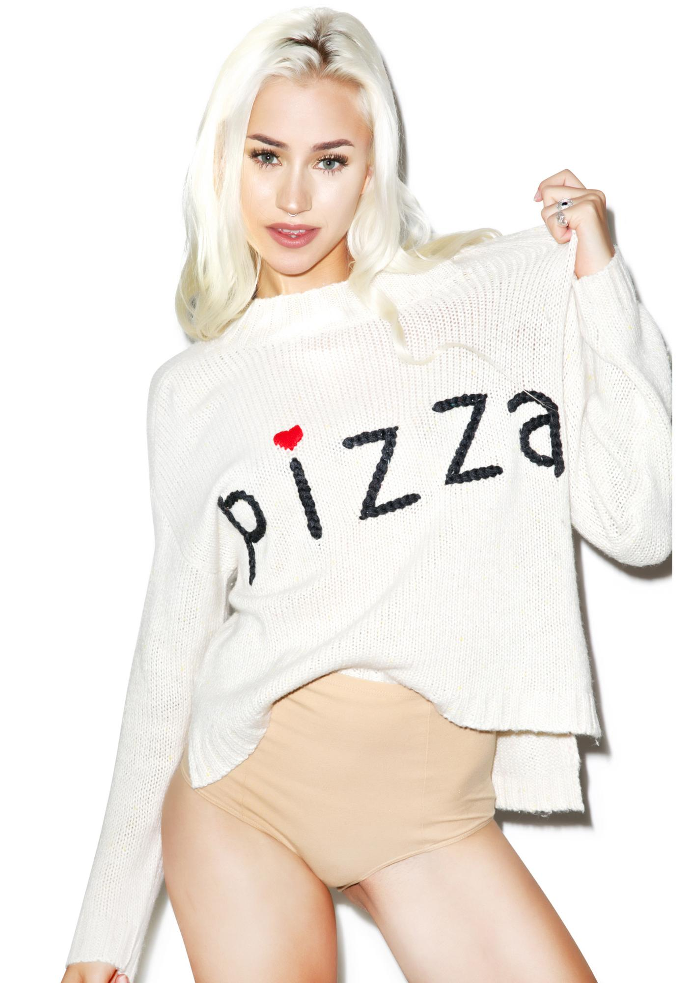 Wildfox Couture Simply Pizza Dinner Party Sweater
