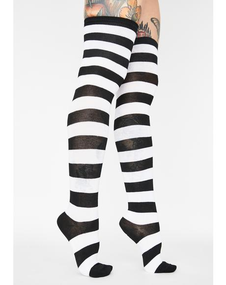 Corrupt Offspring Thigh High Socks
