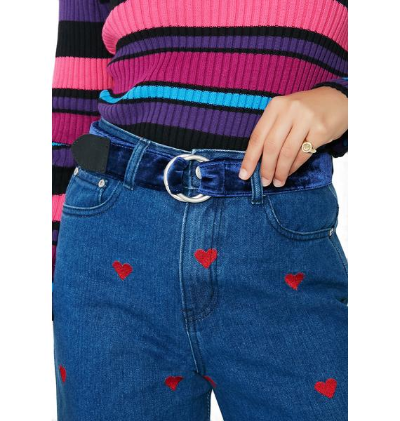 Loop & Tuck Velvet Belt