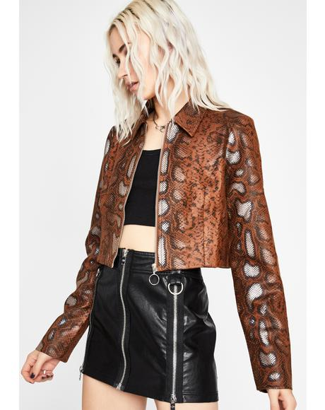 Toxic Blooded Snakeskin Jacket