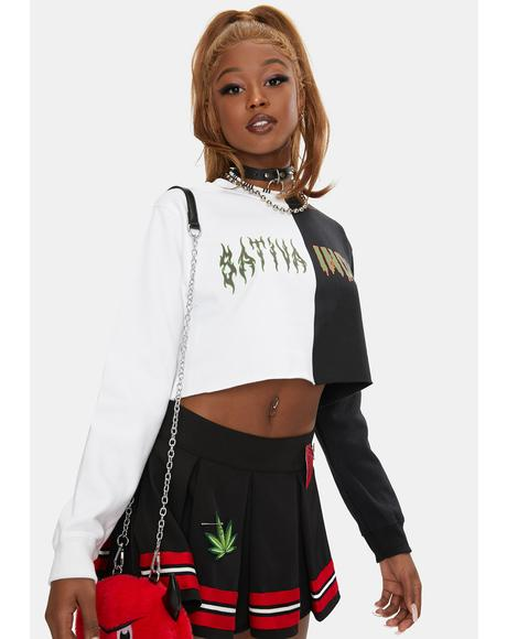 Day N Nite Cropped Sweatshirt
