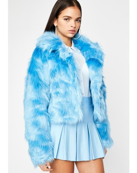 Aqua Doll Life Faux Fur Jacket