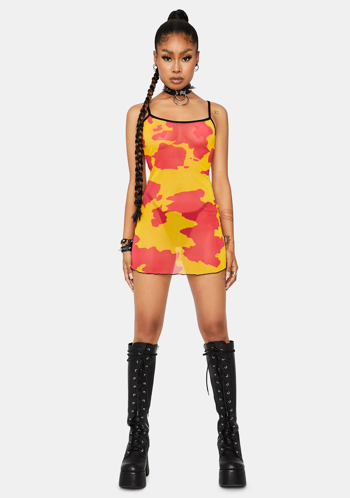 Lemonade Legend Dairy Mesh Dress