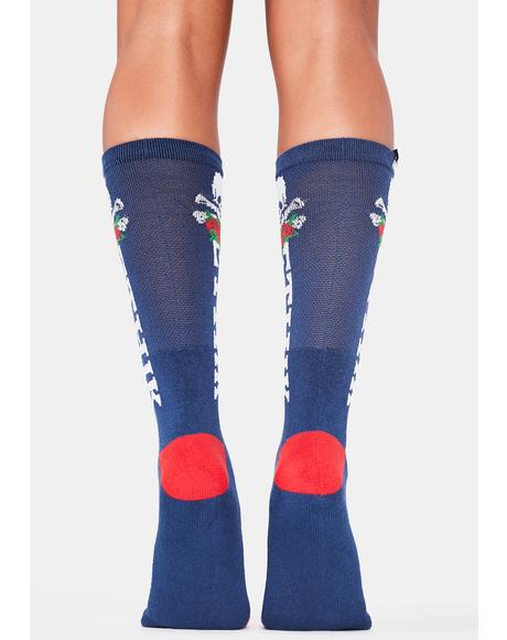 Navy Marauder Socks