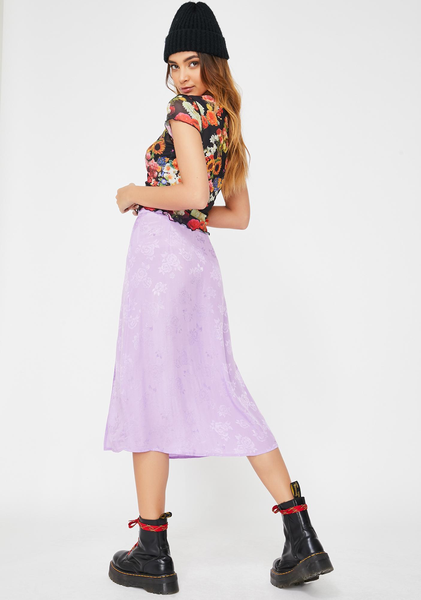Motel Lilac Rose Saika Skirt