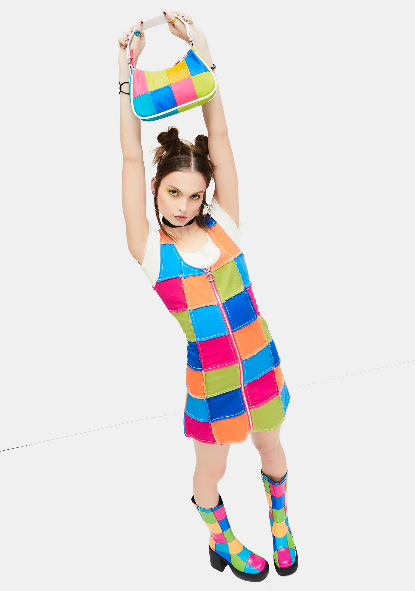 dELiA*s by Dolls Kill Colorful Life Patchwork Mini Purse