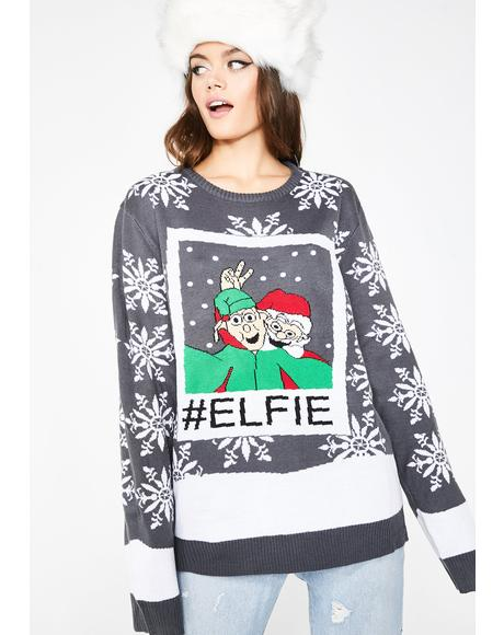 Lets Take Another Elfie Sweater