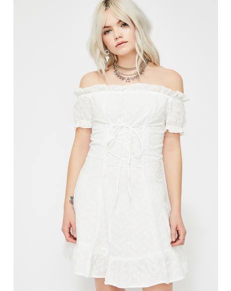 Heavenly Hottie Off The Shoulder Dress