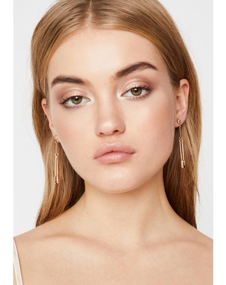 Cuz There's No Point Safety Pin Earrings