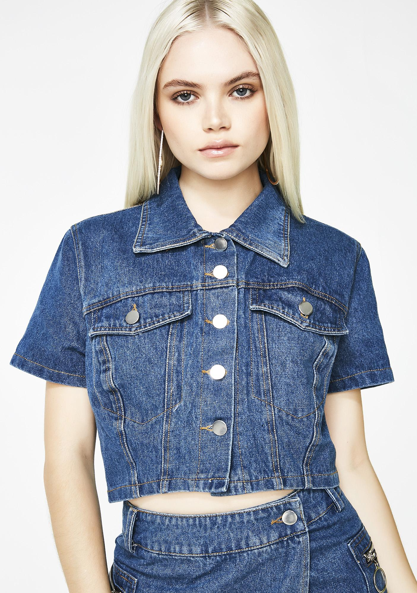 Let's Get Down Denim Top