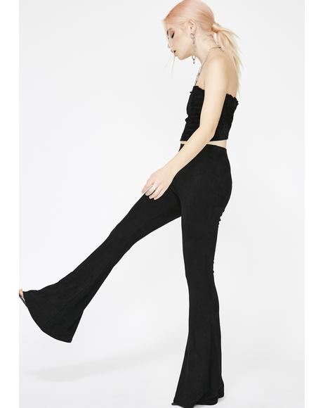 Make It Werk Suede Flares