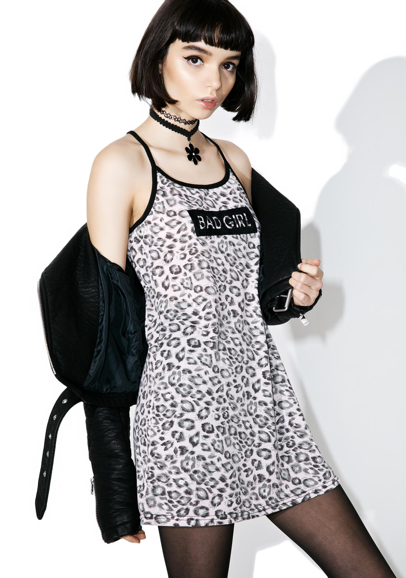 one spo Leopard Bad Girl Dress