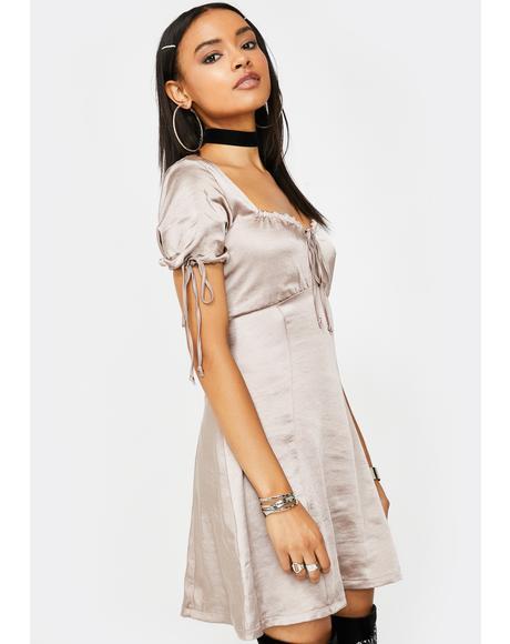 Mink Guenette Satin Dress