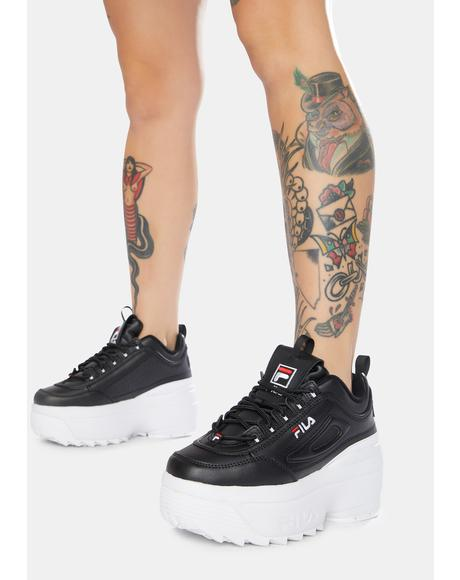 Black Disruptor 2 Wedge Sneakers