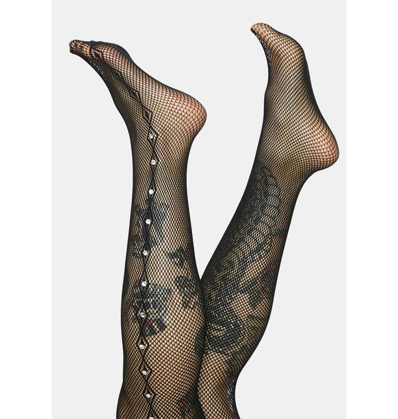 Carry Me Home Rhinestone Fishnet Tights