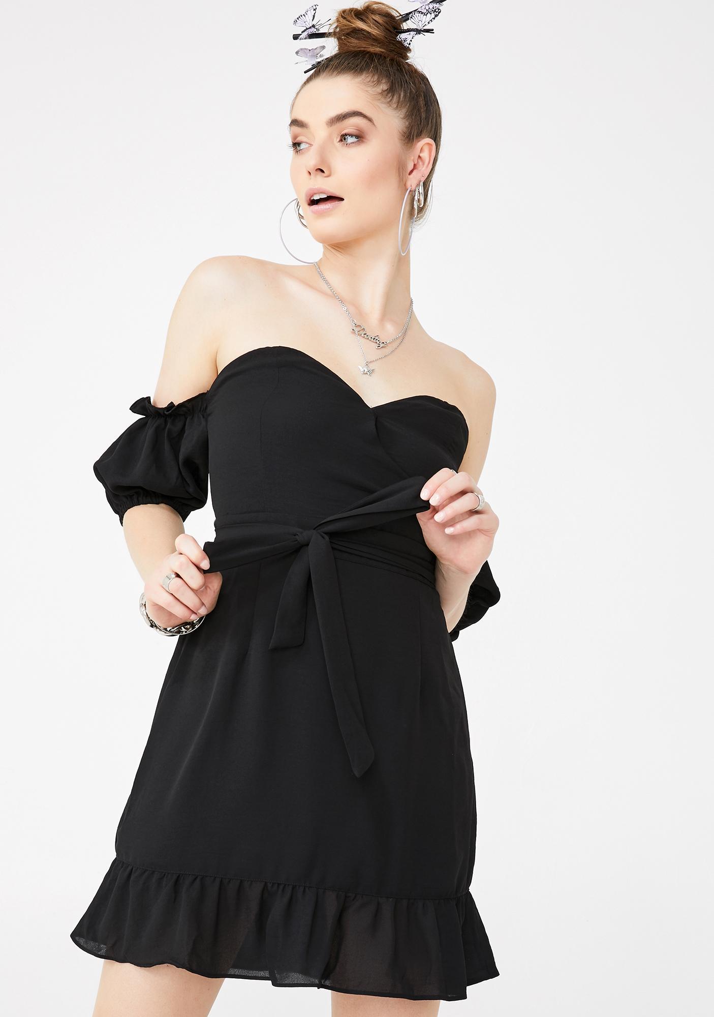 Glamorous Off The Shoulder Ruffle Dress