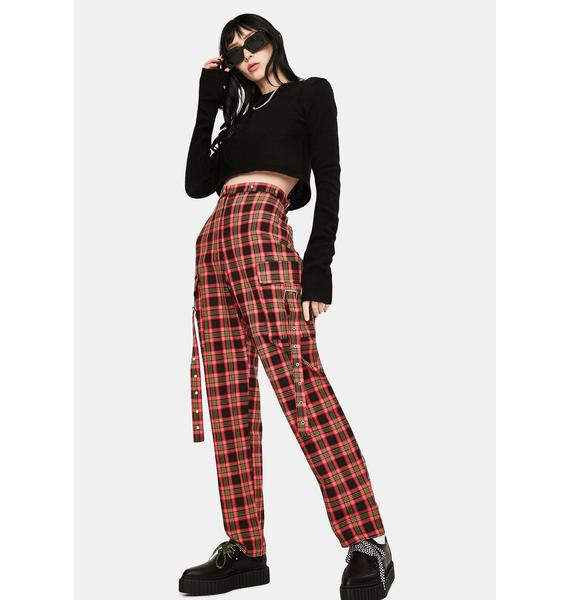 The Ragged Priest Boundary Plaid Buckle Pants