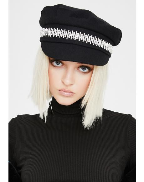 Luxe Brigade Rhinestone Hat