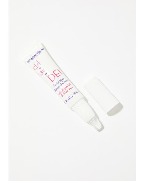 ctrl+hair+DEL Facial Hair Removal Cream