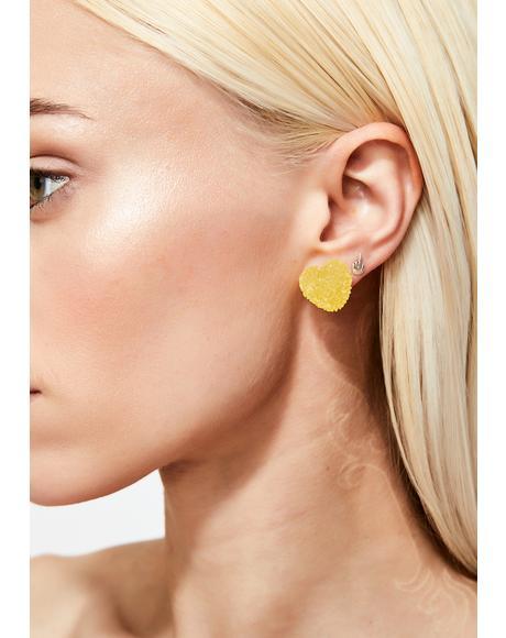 Sour N' Sweet To Eat Heart Earrings