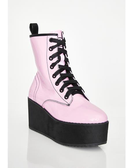 Sweet Stomp Hi Patent Boots