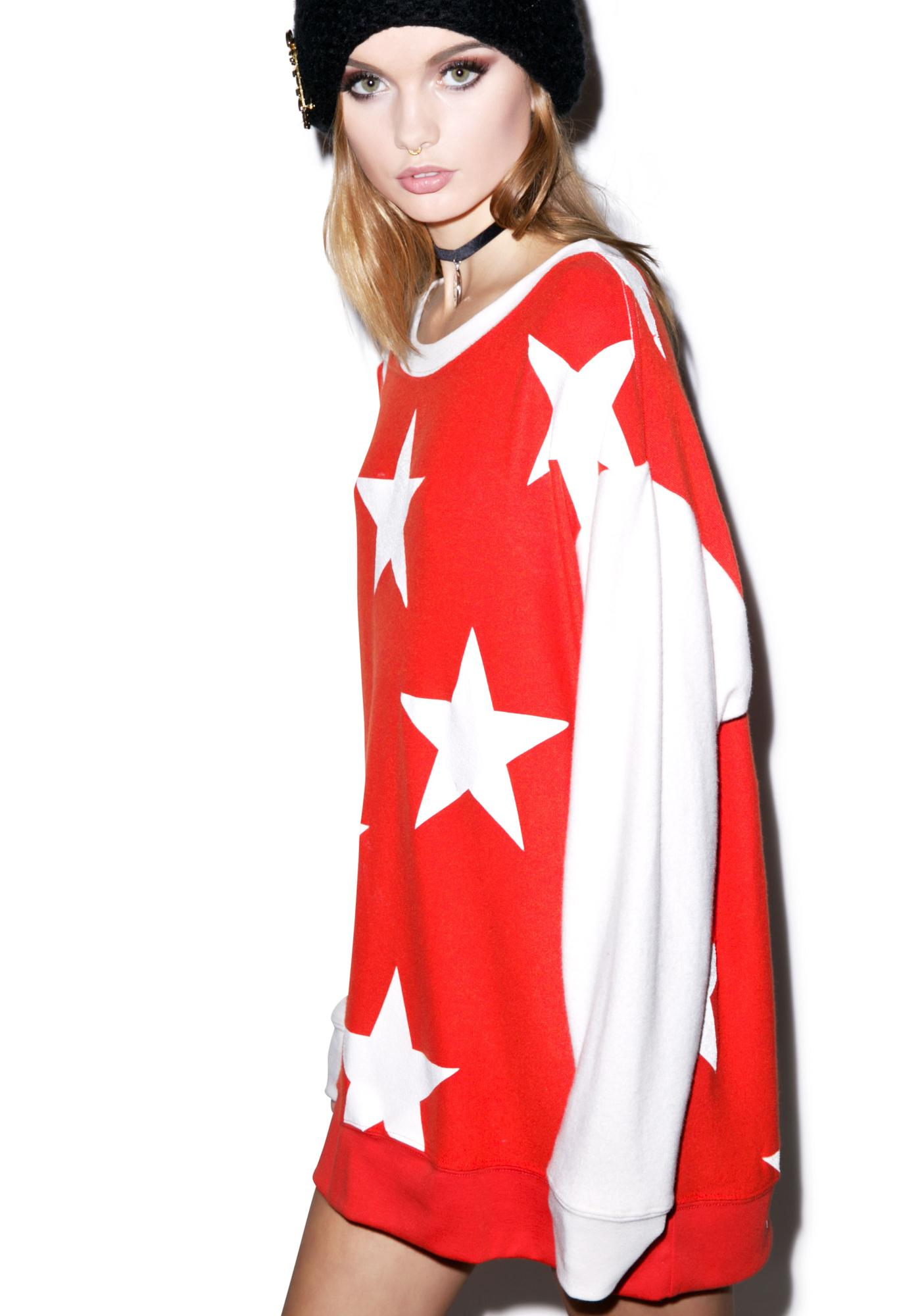 Wildfox Couture Starshine Roadtrip Sweater Dress