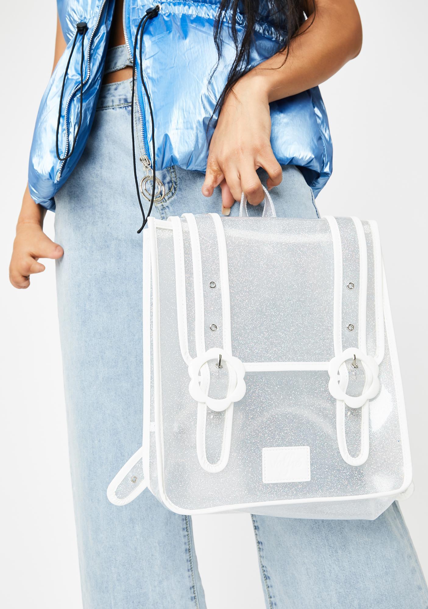 Valfré Daisy Clear Glitter Backpack