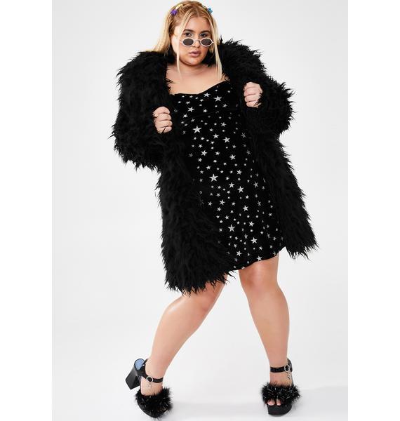 dELiA*s by Dolls Kill Miss Fame Monster Faux Fur Coat