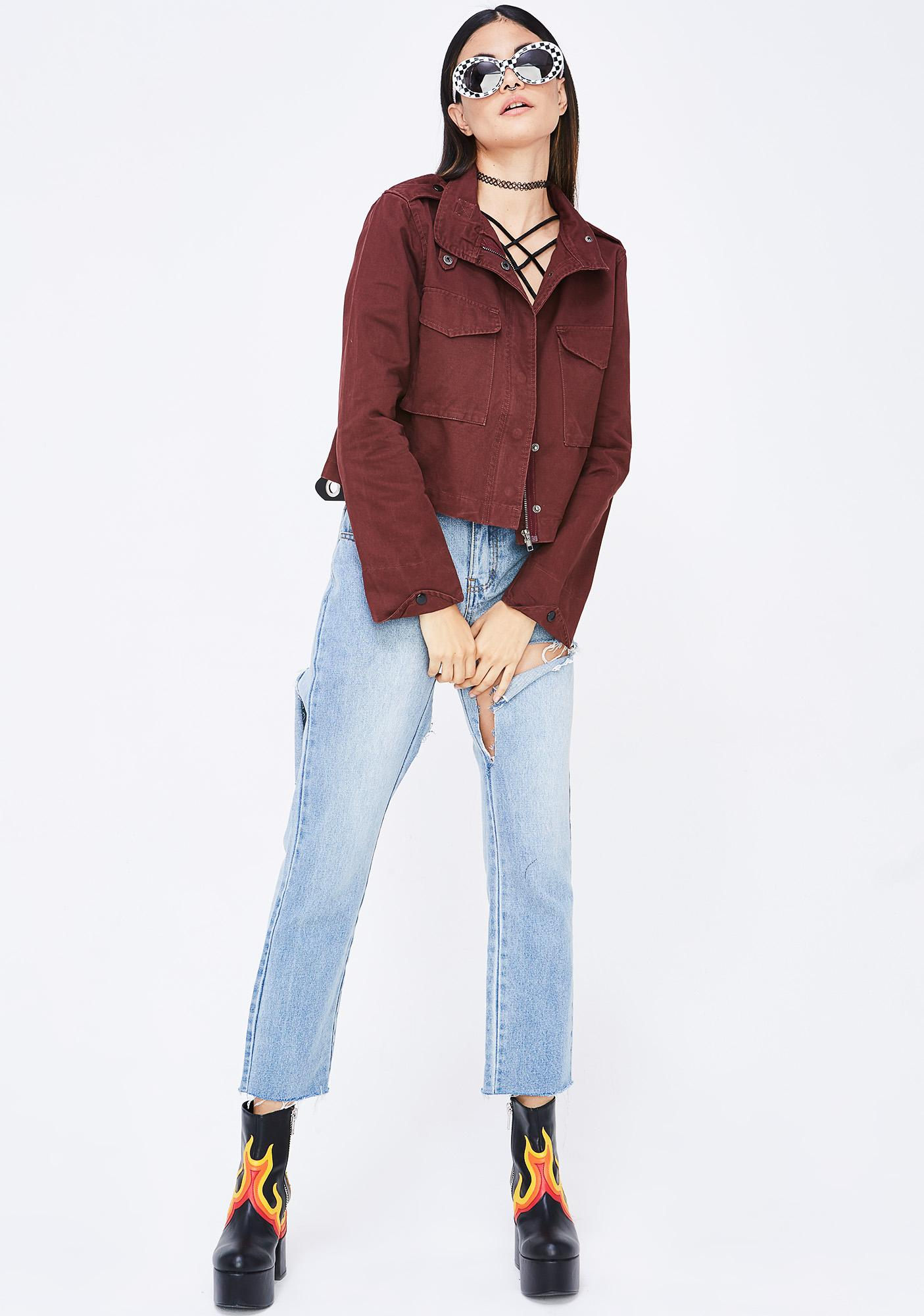 No Comment Cropped Jacket