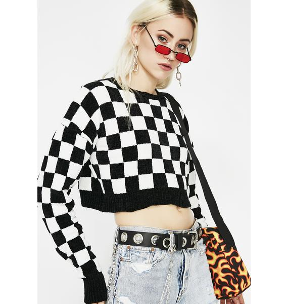 Raven Rebel Rouser Checkered Sweater