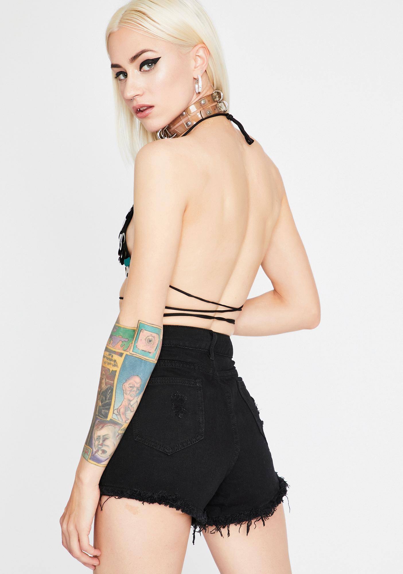 Disco Queen Denim Shorts
