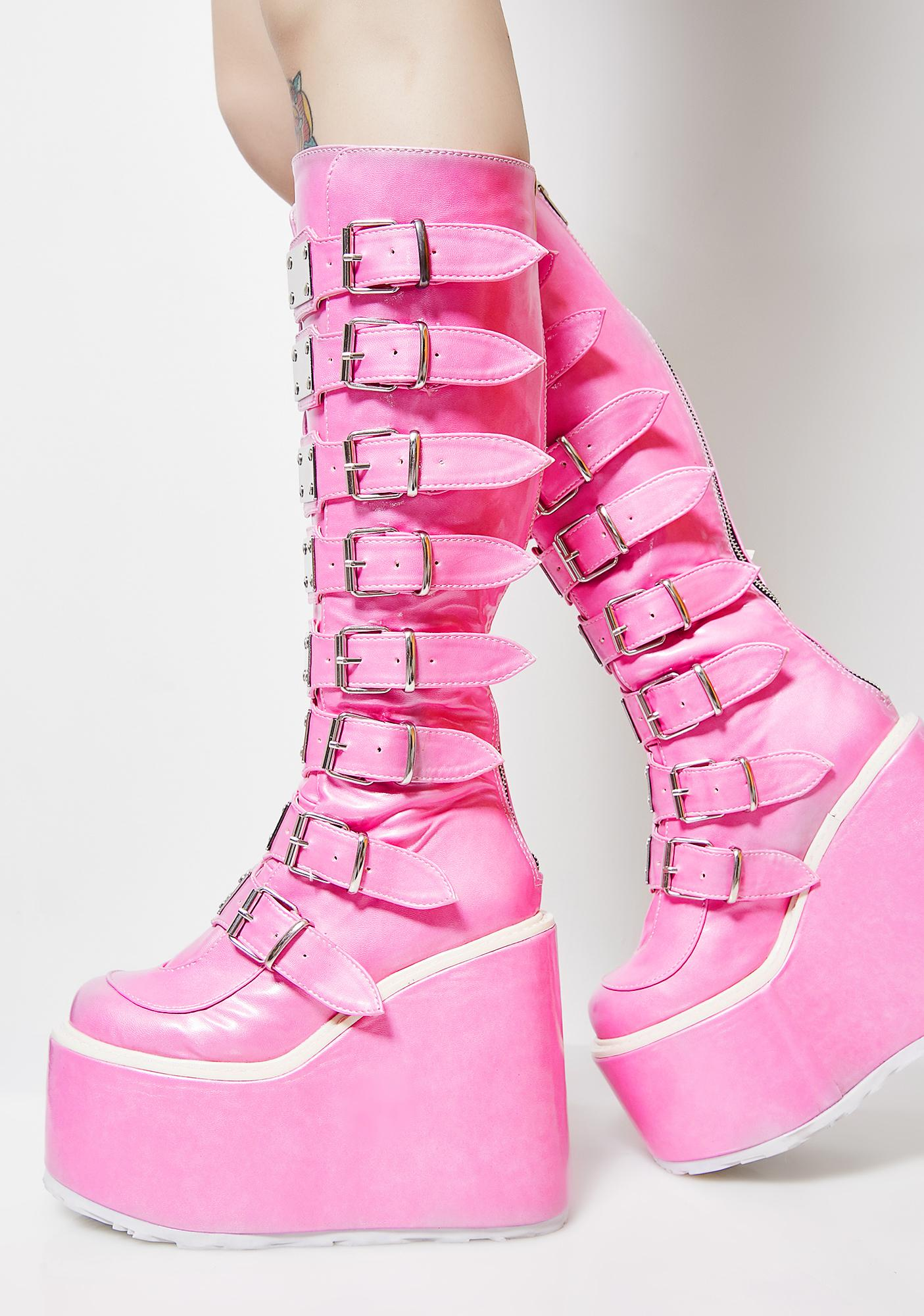 Demonia Sweeter Than Eva Trinity Boots