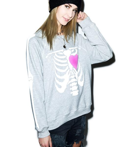 Wildfox Couture My Beating Heart Kim's Sweater