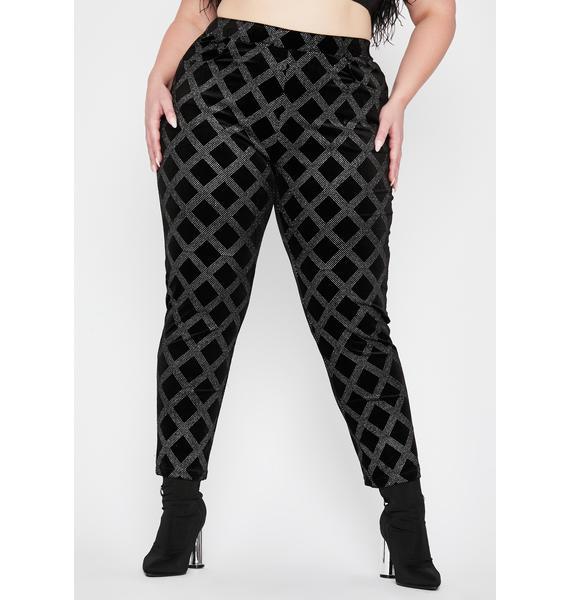 Mz Glam Rocker Velvet Pants