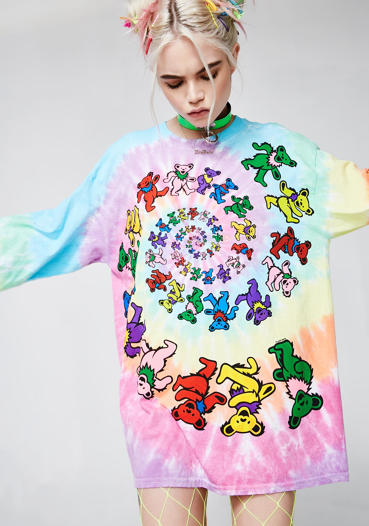 Spiral Bears Long Sleeve Top