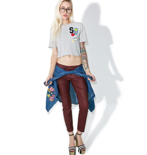 Glamorous Patched Up Cropped Tee