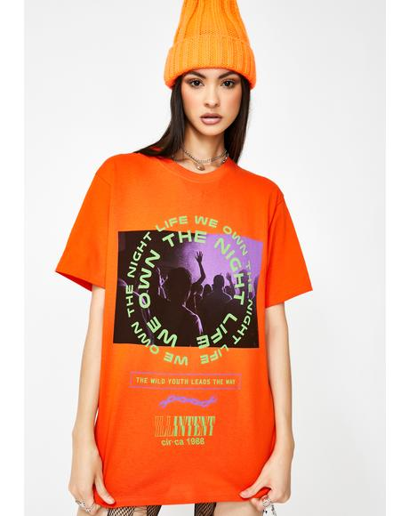 Orange Youth Graphic Tee