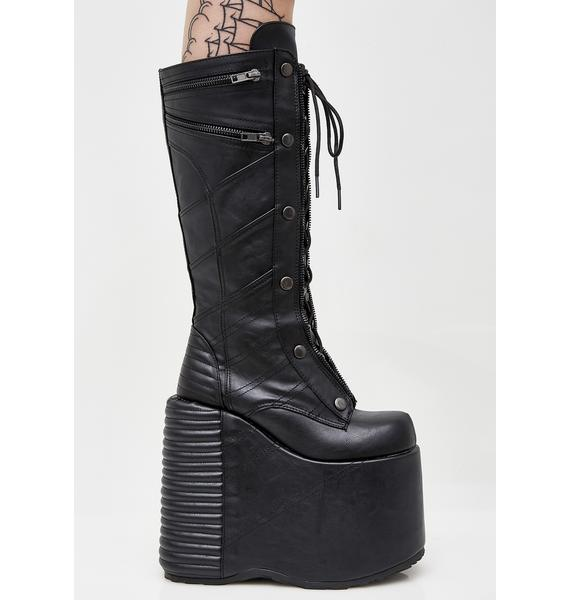 Demonia Underworld Platform Boots