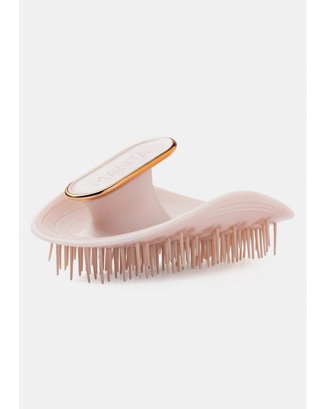 Pink & Rose Gold Manta Hair Brush