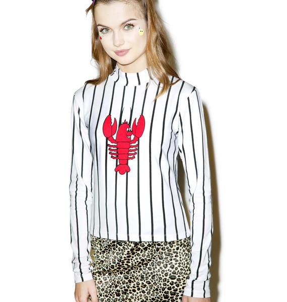 Lazy Oaf Lobster Long Sleeve T-Shirt