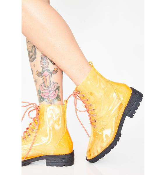 Juiced Clear Views Lace Up Boots