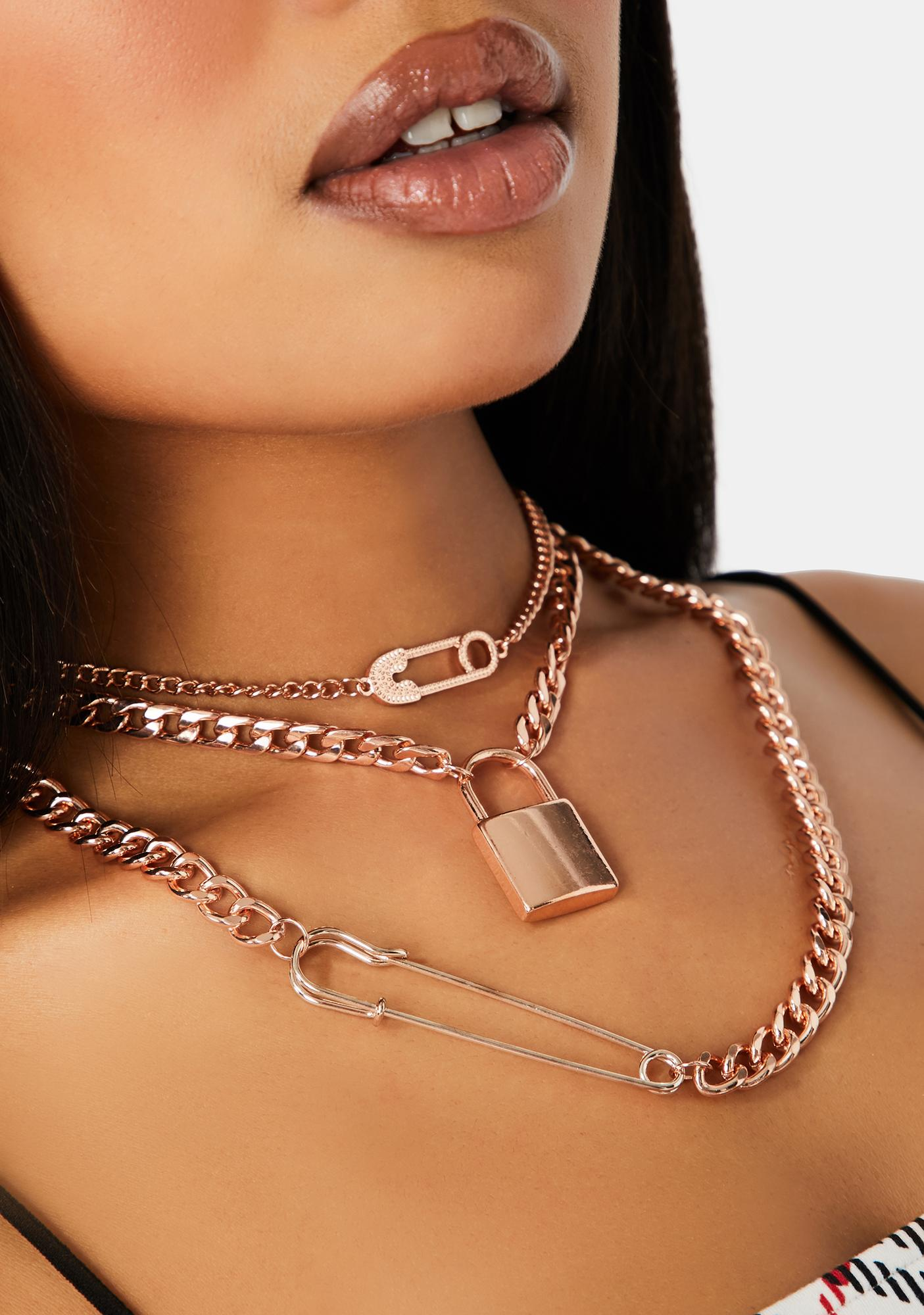 Gilded Live Hardcore Chain Necklace Set