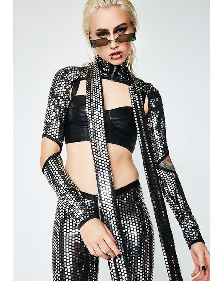 Disco Queen Mirrored Shrug