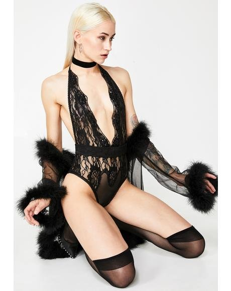 Light My Candle Sequin N' Lace Teddy