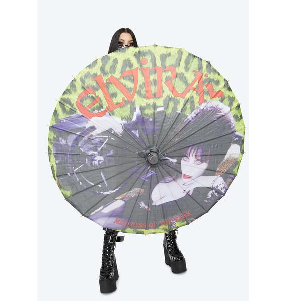 Kreepsville 666 Elvira Leopard Umbrella