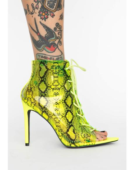 Toxic Bloodline Lace Up Heels