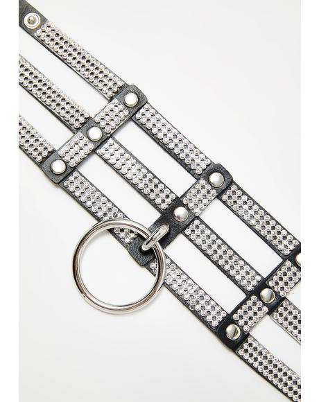 Diamond In The Ruff Rhinestone Choker