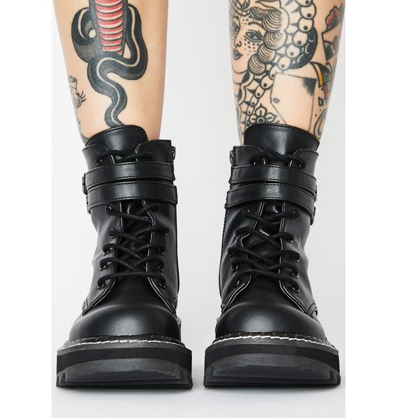 Demonia Failed Senses Combat Boots